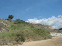 la costa e la spiaggia nei pressi della Scala dei Turchi - 7 settembre 2007  - Realmonte (1475 clic)