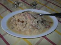 primi: risotto funghi salsiccia - Il Casale degli Antichi Sapori - Bosco Scorace - 18 gennaio 2009  - Buseto palizzolo (6487 clic)