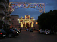 Piano Santa Maria - Chiesa Santa Maria del Gesù: illuminazione per i festeggiamenti in onore di S. Antonino - 1 giugno 2008    - Alcamo (838 clic)