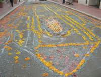 Festa di li Schietti - ciò che resta dell'infiorata nell'ultimo giorno della festa - 23 marzo 2008   - Terrasini (2167 clic)