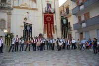 2° Corteo Storico di Santa Rita - Piazza Madonna delle Grazie - Stendardieri di Petralia La Suprana - 17 maggio 2008  - Castellammare del golfo (515 clic)