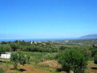 panorama: guardando verso il Golfo di Castellammare, in direzione del Castello di Calatubo - 9 maggio 2007  - Alcamo (977 clic)