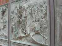 Cattedrale di S. Lorenzo - cancello esterno: particolare - 28 agosto 2009   - Trapani (1797 clic)