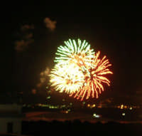 Festeggiamenti in onore di Maria SS. dei Miracoli - Patrona di Alcamo - C/da Sasi - Spettacolo di Giochi Pirotecnici - 21 giugno 2006   - Alcamo (1140 clic)