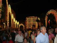 Festeggiamenti in onore di Maria SS. dei Miracoli - Patrona di Alcamo - Piazza Ciullo - Illuminazione straordinaria - 19 giugno 2006   - Alcamo (1844 clic)