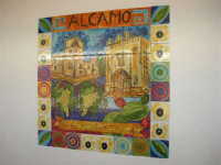C.da Valle Nuccio - Visita al maneggio de Lo Sperone - Il ristorante - Decorazione con piastrelle - 19 febraio 2006  - Alcamo (1516 clic)