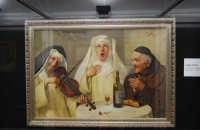 stazione ferroviaria - visita a IL TRENO DELL'ARTE -  Museo per un Giorno - Claudio Rinaldi - Il convito dei religiosi - (13) - 13 ottobre 2007  - Trapani (1331 clic)