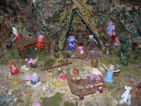 Presepe realizzato con la pasta (particolare) - Istituto Comprensivo G. Pascoli - 23 dicembre 2005   - Castellammare del golfo (4156 clic)