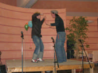 C/da Scampati - Sala Panorama - Cabaret durante la cena di beneficenza a favore dell'AVSI: Giuseppe Coppola ed Ivan D'Angelo di Castellammare del Golfo - 24 febbraio 2006  - Alcamo (1184 clic)