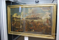 stazione ferroviaria - visita a IL TRENO DELL'ARTE -  Museo per un Giorno - Anonimo XVIII secolo - Battaglia tra cristiani e turchi - (27) - 13 ottobre 2007  - Trapani (1350 clic)