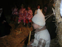 Presepe Vivente presso l'Istituto Comprensivo A. Manzoni, animato da alunni della scuola e da anziani del paese - la grotta della natività - 20 dicembre 2007   - Buseto palizzolo (785 clic)
