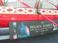 In occasione dell'America's Cup, Pisa pubblicizza la sua 51ª Regata Storica del 4 giugno 2006 - 2 ottobre 2005   - Trapani (2013 clic)