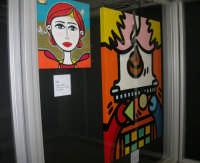 stazione ferroviaria - visita a IL TRENO DELL'ARTE -  Museo per un Giorno - Nais - Falene, 2007 - Bros - Sacra famiglia, 2007 - (31) - 13 ottobre 2007  - Trapani (1341 clic)