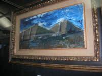 stazione ferroviaria - visita a IL TRENO DELL'ARTE -  Museo per un Giorno - Mario Sironi - Montagne, 1950 ca. - (36) - 13 ottobre 2007  - Trapani (2030 clic)
