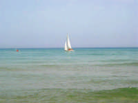 il mare, una vela - 21 agosto 2007  - Alcamo marina (901 clic)