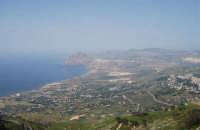 Panorama del litorale da Pizzolungo a Bonagia, a Cornino e monte Cofano - entroterra fino a Valderice - 1 maggio 2008   - Erice (973 clic)
