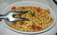 pranzo al Ristorante del Golfo (da Liborio - specialità pesce) - via Segesta, 153 -: busiata con pesce spada - 7 maggio 2006  - Castellammare del golfo (2343 clic)