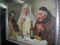stazione ferroviaria - visita a IL TRENO DELL'ARTE -  Museo per un Giorno - Claudio Rinaldi - Il convito dei religiosi - (42) - 13 ottobre 2007  - Trapani (1546 clic)