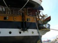 Particolare dell'Amerigo Vespucci, attraccata al porto in occasione della Trapani Louis Vuitton Acts 8&9 - 2 ottobre 2005  - Trapani (2100 clic)