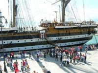 La nave scuola Amerigo Vespucci attraccata nel molo del porto, in occasione dell'America's Cup - 2 ottobre 2005  - Trapani (3591 clic)