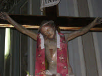 interno della Chiesa Maria SS. delle Grazie: Gesù sulla croce - 3 settembre 2008   - Torretta (2527 clic)