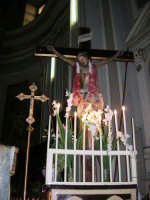 interno della Chiesa Maria SS. delle Grazie: Gesù sulla croce - 3 settembre 2008   - Torretta (2822 clic)