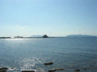 Villino Nasi ed isole Egadi visti dalla Torre di Ligny - 28 settembre 2008   - Trapani (901 clic)