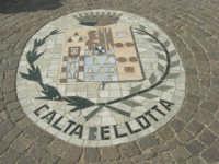 Stemma del Comune di Caltabellotta - mosaico a terra - 9 novembre 2008   - Sant'anna di caltabellotta (4911 clic)