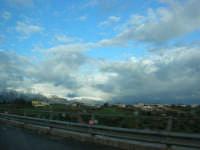 Autostrada A29 Palermo-Mazara - monti di Castellammare innevati - 14 febbraio 2009  - Alcamo (2614 clic)