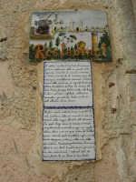 insegna del ristorante La Pentolaccia - 25 aprile 2006  - Erice (2034 clic)