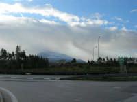 Autostrada A29 Palermo-Mazara - area parcheggio Costa Gaia - Monte Bonifato innevato - 14 febbraio 2009   - Alcamo (2433 clic)