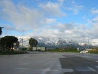 Autostrada A29 Palermo-Mazara - area parcheggio Costa Gaia - monti di Castellammare innevati - 14 febbraio 2009   - Alcamo (5081 clic)