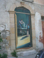 per le vie di Vita - murales - Mestieri e tradizioni della civiltà contadina: vasaio al lavoro con apprendista - 9 ottobre 2007   - Vita (2757 clic)