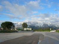 Autostrada A29 Palermo-Mazara - area parcheggio Costa Gaia - monti di Castellammare innevati - 14 febbraio 2009   - Alcamo (6940 clic)