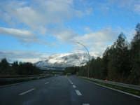 Autostrada A29 Palermo-Mazara - monti di Castellammare innevati - 14 febbraio 2009   - Alcamo (2421 clic)