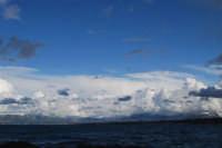 Golfo di Castellammare e monti innevati lato est - 13 febbraio 2009  - Castellammare del golfo (1282 clic)