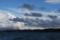 Golfo di Castellammare e monti innevati lato est - 13 febbraio 2009  - Castellammare del golfo (1841 clic)