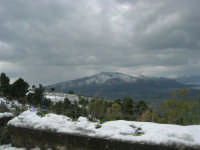 neve sul monte Bonifato - Monte Inici innevato - 15 febbraio 2009   - Alcamo (4230 clic)