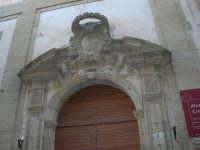 Museo Civico - particolare dell'ingresso - 11 ottobre 2007   - Salemi (2316 clic)