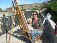 Piazza Petrolo - Luci e colori di Castellammare IV Estemporanea di pittura En plain air - la pittrice palermitana Marisa Battaglia - 20 settembre 2009  - Castellammare del golfo (3555 clic)