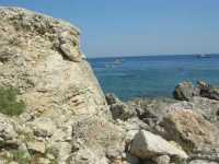 Cala Mazzo di Sciacca, nei pressi della Riserva Naturale dello Zingaro - 25 agosto 2009   - Castellammare del golfo (876 clic)