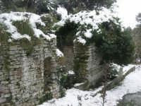 neve sul monte Bonifato - Riserva Naturale Orientata Bosco d'Alcamo - La Funtanazza, grande serbatoio pubblico di età medievale - 15 febbraio 2009   - Alcamo (5706 clic)