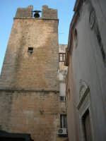 il campanile e la facciata dell'ex Chiesa di S. Maria del Soccorso - 20 giugno 2008  - Alcamo (629 clic)