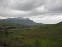 panorama della campagna alcamese e monti di Castellammare innevati - 15 febbraio 2009   - Alcamo (2414 clic)