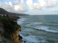 periferia est - il mare si infrange sugli scogli - 9 dicembre 2009  - Castellammare del golfo (1496 clic)