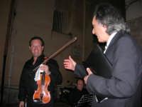 Piazzetta Vespri - Concerto Quartetto Maestri Caravaglios - Musica classica d'autore e films - Presenta il Prof. Giuseppe Camporeale. Prof. Massimiliano Ramo, violino (cell. 347-4872723 - tel. 0923-941391) - Prof. Antonello Camporeale, contrabbasso - Prof. Michele Lentini, clarinetto - flauto traverso - Prof. Arcangelo Gruppuso, pianoforte (concerti e matrimoni) - 17 agosto 2008  - Alcamo (866 clic)