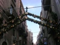 Cene di San Giuseppe - addobbo in strada - 15 marzo 2009   - Salemi (2566 clic)