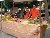 Mercato in Piazza della Repubblica - dal produttore al consumatore - la bancarella delle conserve - 18 maggio 2008  - Alcamo (1168 clic)