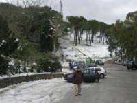 neve sul monte Bonifato - Riserva Naturale Orientata Bosco d'Alcamo - 15 febbraio 2009   - Alcamo (2259 clic)