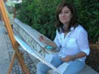 Piazza Petrolo - Luci e colori di Castellammare IV Estemporanea di pittura En plain air - la pittrice Lina Barbuscia - 20 settembre 2009    - Castellammare del golfo (3574 clic)